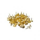Гвозди мебельные усиленные 167шт, 100гр золото