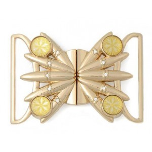 Декоративная пряжка бабочка на женский ремень