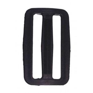 Рамка двухщелевая 20 мм арт. 8826 черн. пластик